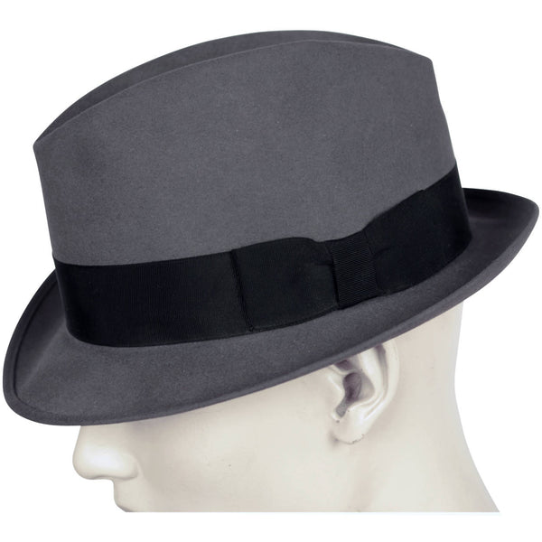 Vintage 1950s Mens Stetson Fedora Hat Grey Large 7 1/4 Canada - Poppy's Vintage Clothing