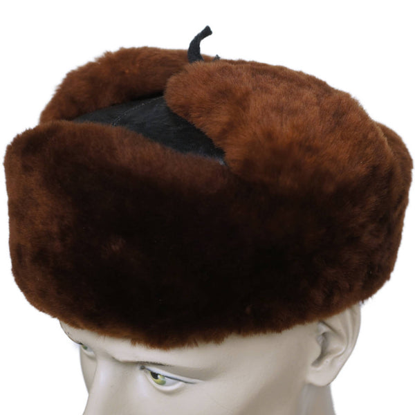 Vintage-Russian-Ushanka-Mouton-Leather-Hat