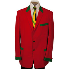 Vintage 60s Uniform Blazer Jacket Red & Green 1963 - Poppy's Vintage Clothing