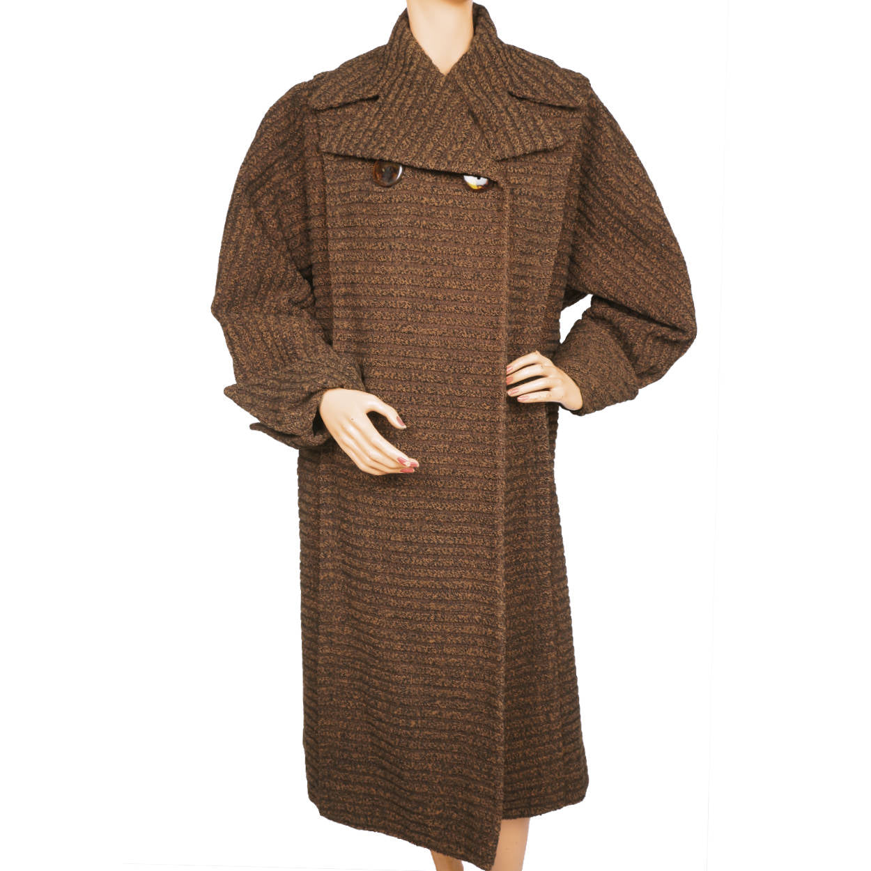 71157f848268d Vintage 1950s Saks Fifth Avenue Coat Ribbed Wool Ladies Size Large XL
