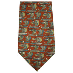 Salvatore-Ferragamo-Trireme-Galley-Ship-Tie