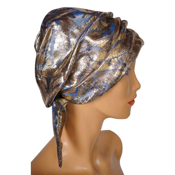 Vintage 1960s SCHIAPARELLI Paris TURBAN Hat - Gold LAME - Small - Poppy's Vintage Clothing