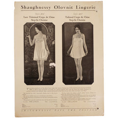 1920s Lingerie Promo Sheet for a Silk Teddy