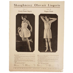 Vintage 1920s Flapper Panties Catalog Promo Ad Shaugnessy Olovnit Lingerie - Poppy's Vintage Clothing