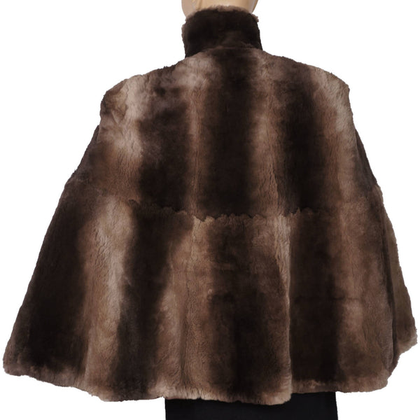 Vintage 1940s Sheared Beaver Fur Cape Size M - Poppy's Vintage Clothing