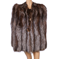 Vintage-1940s-Silver-Fox-Fur-Cape-Jacket