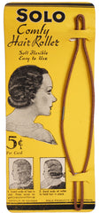 Vintage 20s Solo Hair Roller Curler on Original Card