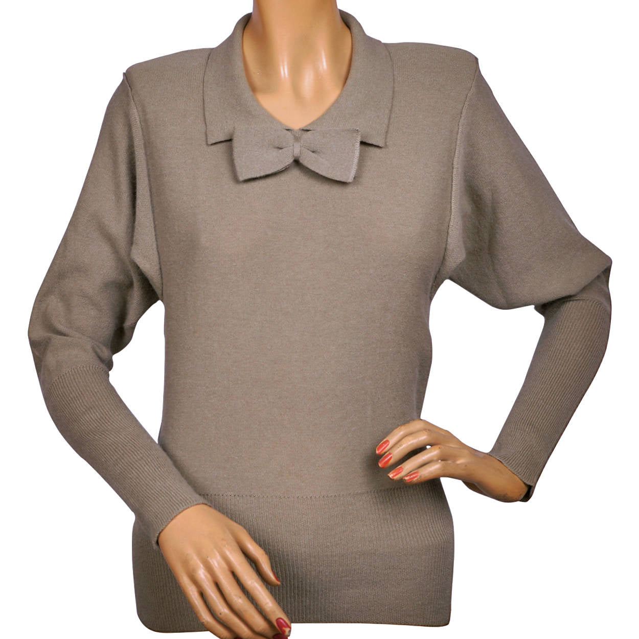 0781d17a69 Vintage Sonia Rykiel Sweater 1980s Taupe Wool Angora Ladies Size Small