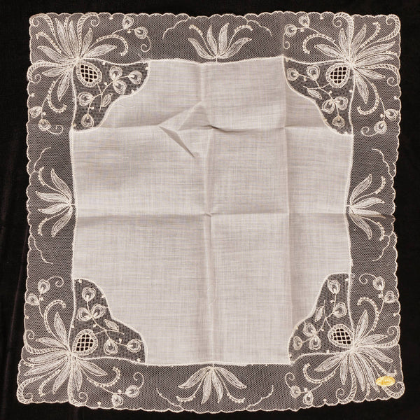 Unused-Vintage-Swiss-Lace-Cotton-Handkerchief