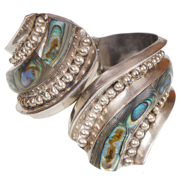 Taxco-Sterling-Silver-Clamper-Cuff-Bracelet-JHC