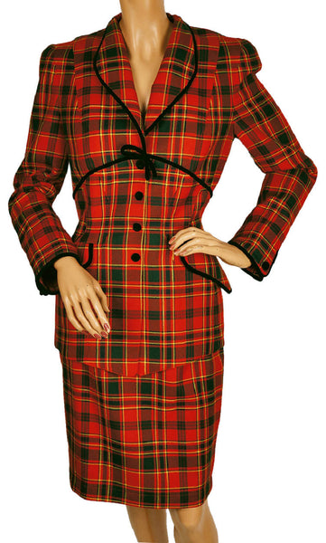 1980s-Thierry-Mugler-Plaid-Suit-Skirt