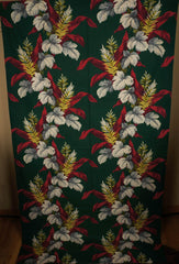 1940s Linen Drapes Tropical Print - Saison Happily Married - Poppy's Vintage Clothing