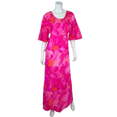 Vintage Two Potato 70s Pink Muumuu Dress Unused NWT