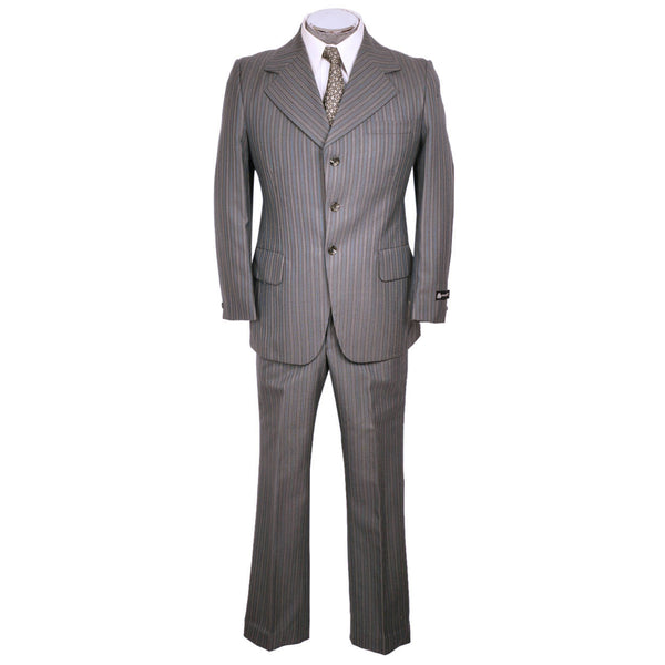 Vintage 60s Mod Era Mens Suit w Pinstripe Unused w Tags Size M 38 - Poppy's Vintage Clothing