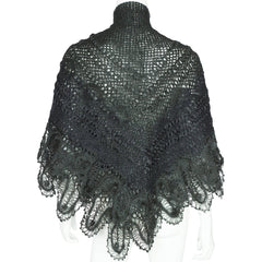 Antique-Victorian-Ring-Pattern-Wool-Knit-Shawl