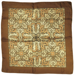 Liberty-of-London-1950s-Brown-Silk-Scarf