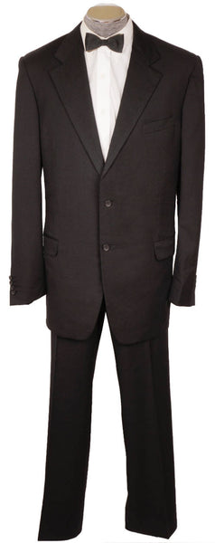 Vintage Gianni Versace Couture Mens Black Formal Suit Modern Tuxedo Size XL 48 - Poppy's Vintage Clothing