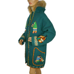 Inuit-Embroidered-Green-Wool-Parka