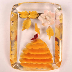 Reverse Carved Lucite Brooch
