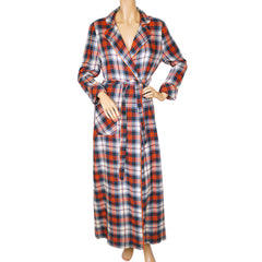 Vintage 1970s Plaid Viyella Dressing Gown JH Bardwell Claire Haddad Ladies Size M - Poppy's Vintage Clothing