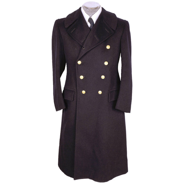 WWII Canada Navy Officer Greatcoat Authentic Canadian Naval Coat - Poppy's Vintage Clothing