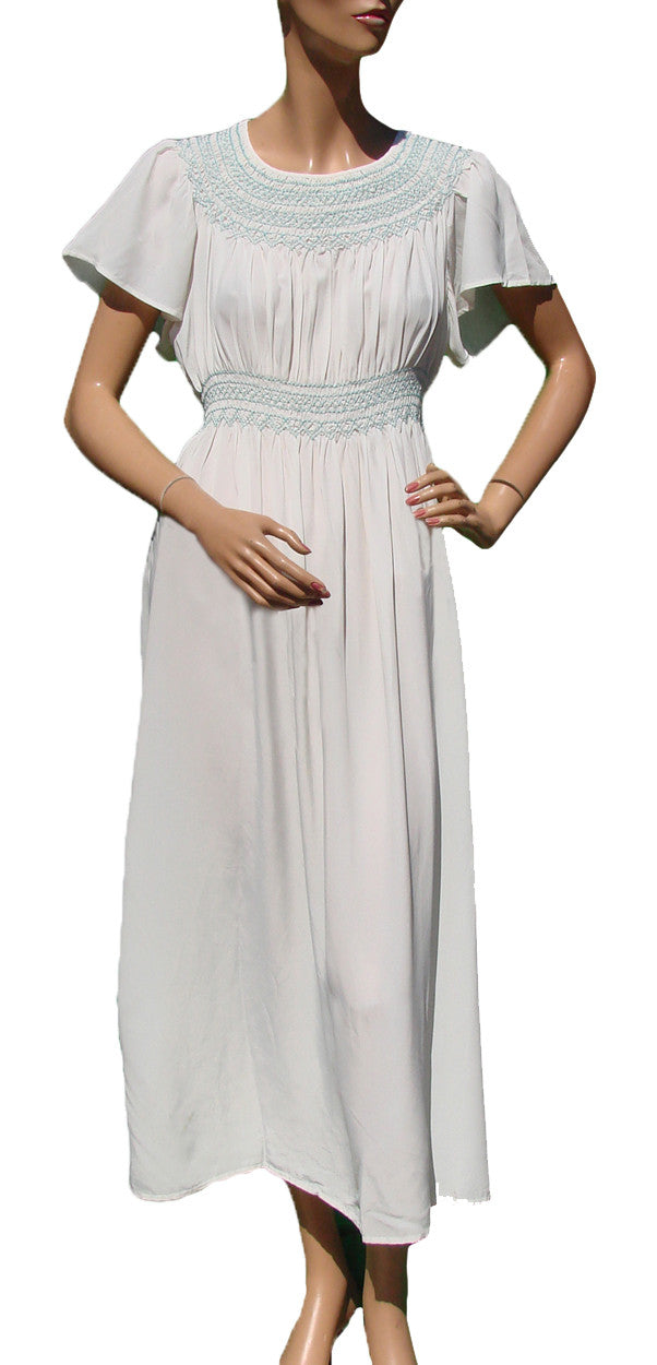 ea640adf0446 lingerie · nightgown · nightie · rayon · white · Vintage 40s Grecian  Goddess Nightgown