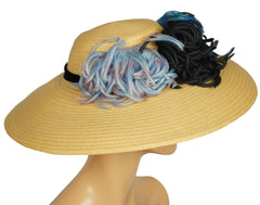 Vintage-1940s-Wide-Brim-Straw-Hat-Side-View