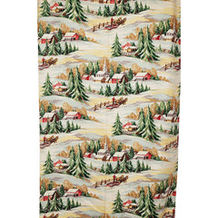 1940s-Unused-Winter-Country-Village-Barkcloth-Drapery-Fabric