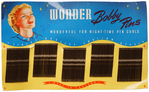 Vintage Bobby Pins on Display Card by Newey Bros