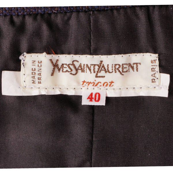 2c289258567 Vintage Yves Saint Laurent Striped Wool Wrap Skirt 1970s Made in France  Size S
