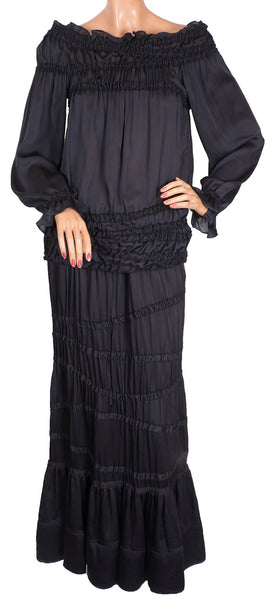 Yves Saint Laurent Black Silk Ensemble
