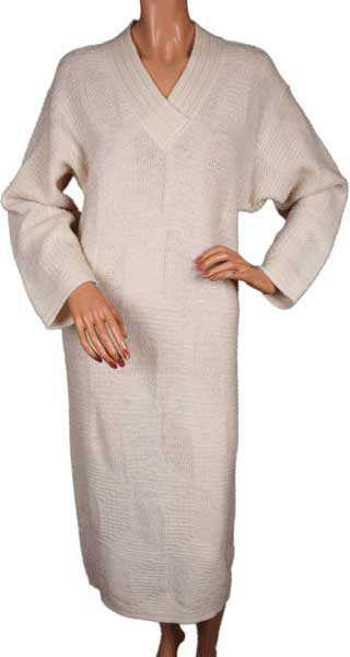 1980s Vintage Sweater Dress by Yves Saint Laurent in Ivory White Mohair Blend - Poppy's Vintage Clothing