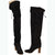 1970s Black Suede Over the Knee Boots