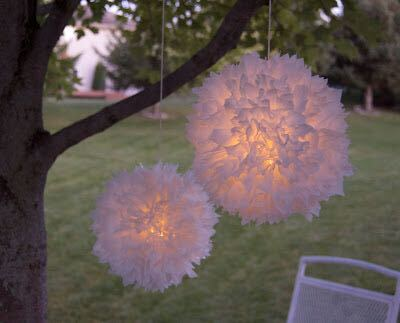 Upcycled plastic bags holiday decorations