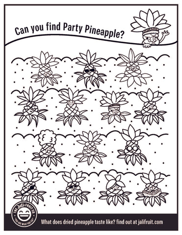 Dried pineapple activity and coloring sheet