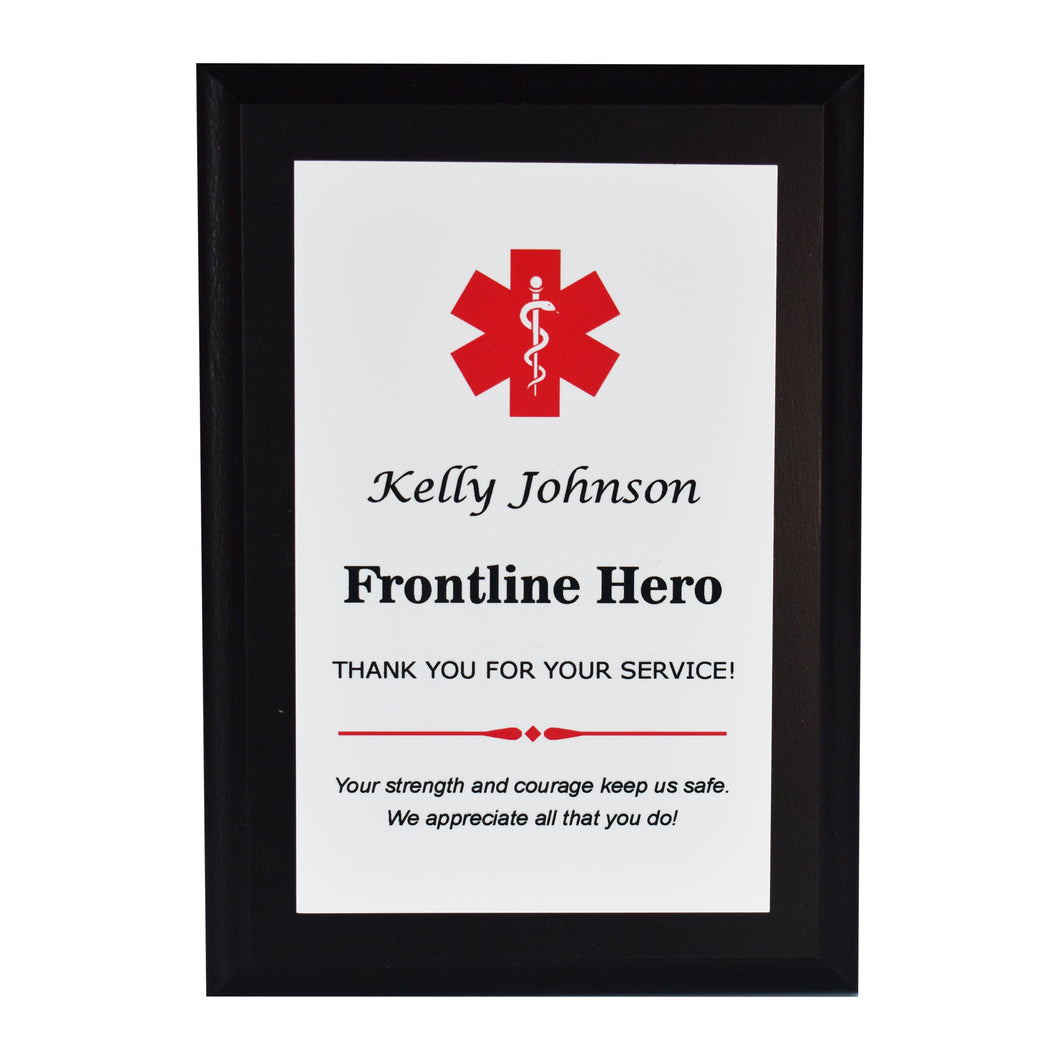 Emergency Worker Appreciation Plaque
