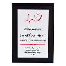 Load image into Gallery viewer, Frontline Hero Heartbeat Appreciation Plaque