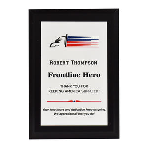 Truck Driver Appreciation Plaque