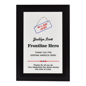 Essential Worker Appreciation Plaque