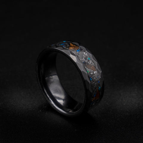 ceramic hammered ring