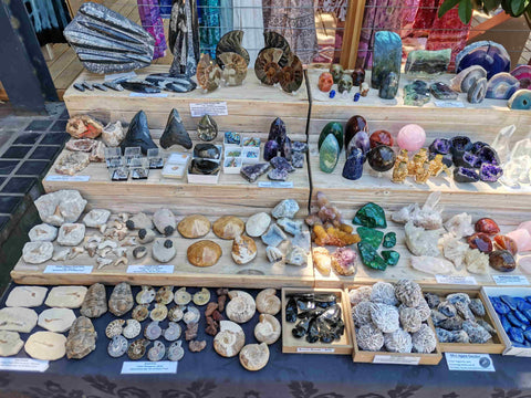 Rock and Mineral Market Display