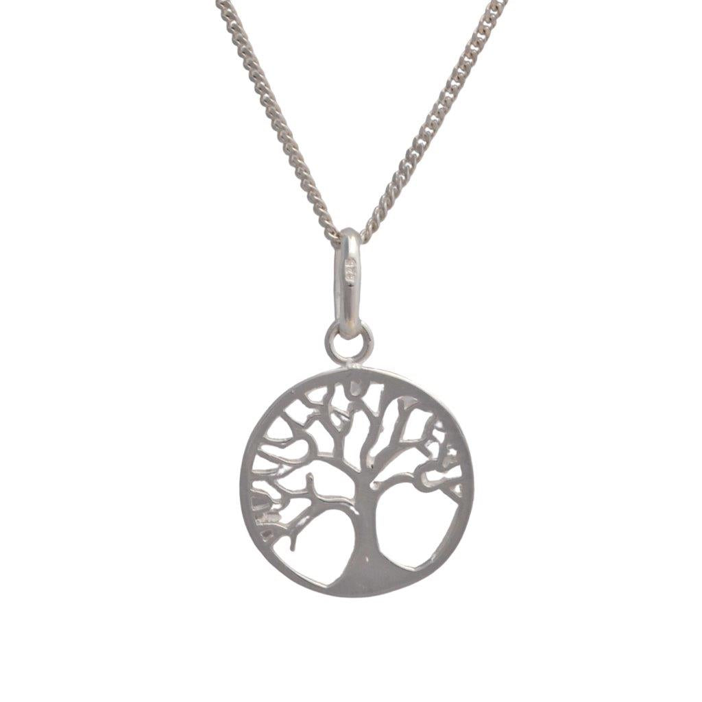 Tree of Life sterling silver pendant on 45cm silver chain