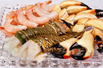 Florida lobster tails, stone crab claws, pink shrimp