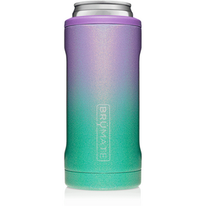 12 oz Hopsulator Slim Glitter Mermaid