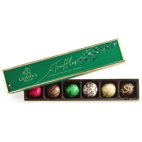 Limited-Edition Holiday Truffle Assorted Chocolate Gift Box, 6-Ct.