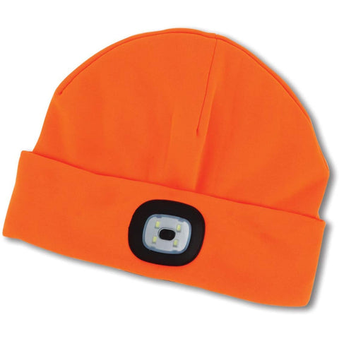 Night Scout Adult USB Rechargeable LED Beanie Hat Orange