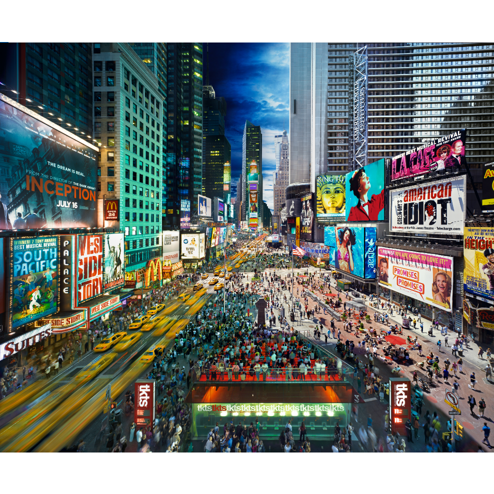 4D Cityscape Puzzle - Stephen Wilkes Times Square, Day to Night
