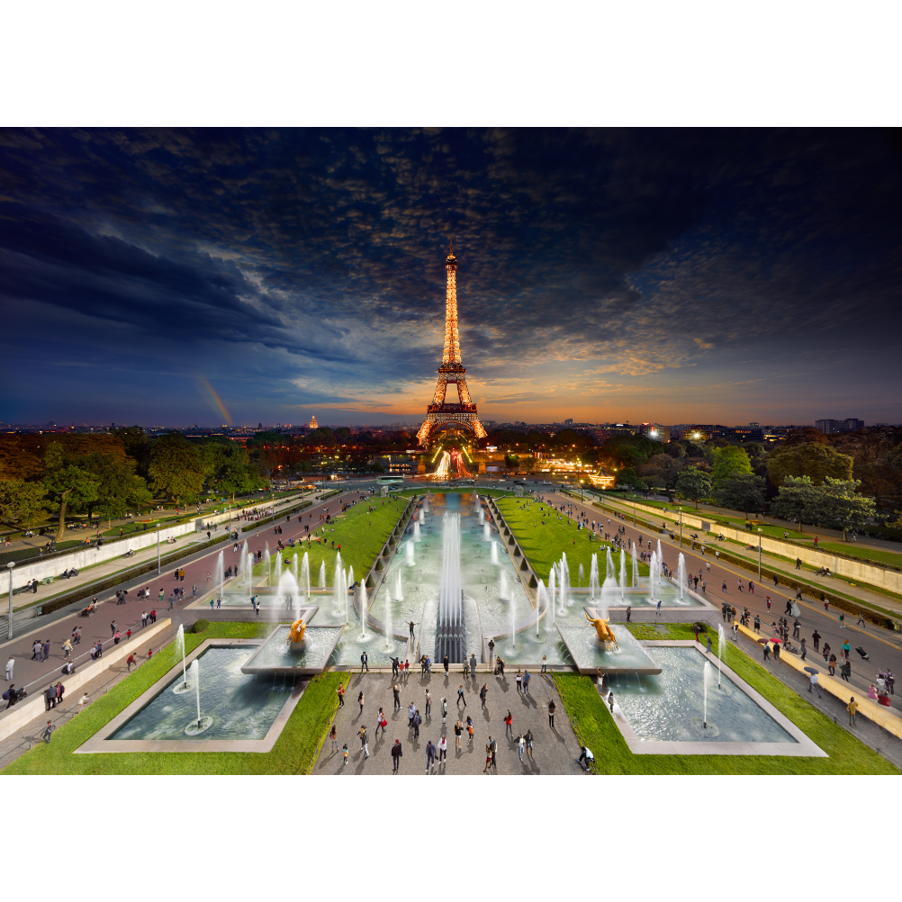 4D Cityscape Puzzle - Stephen Wilkes Eiffel Tower, Day to Night