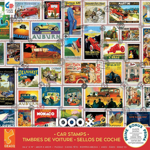 Car Stamps 1000Pc
