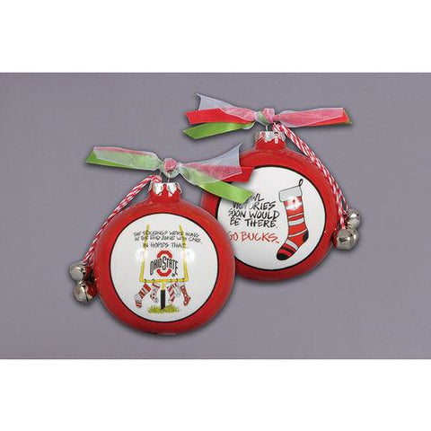 Ohio State Stockings Ceramic Ornament
